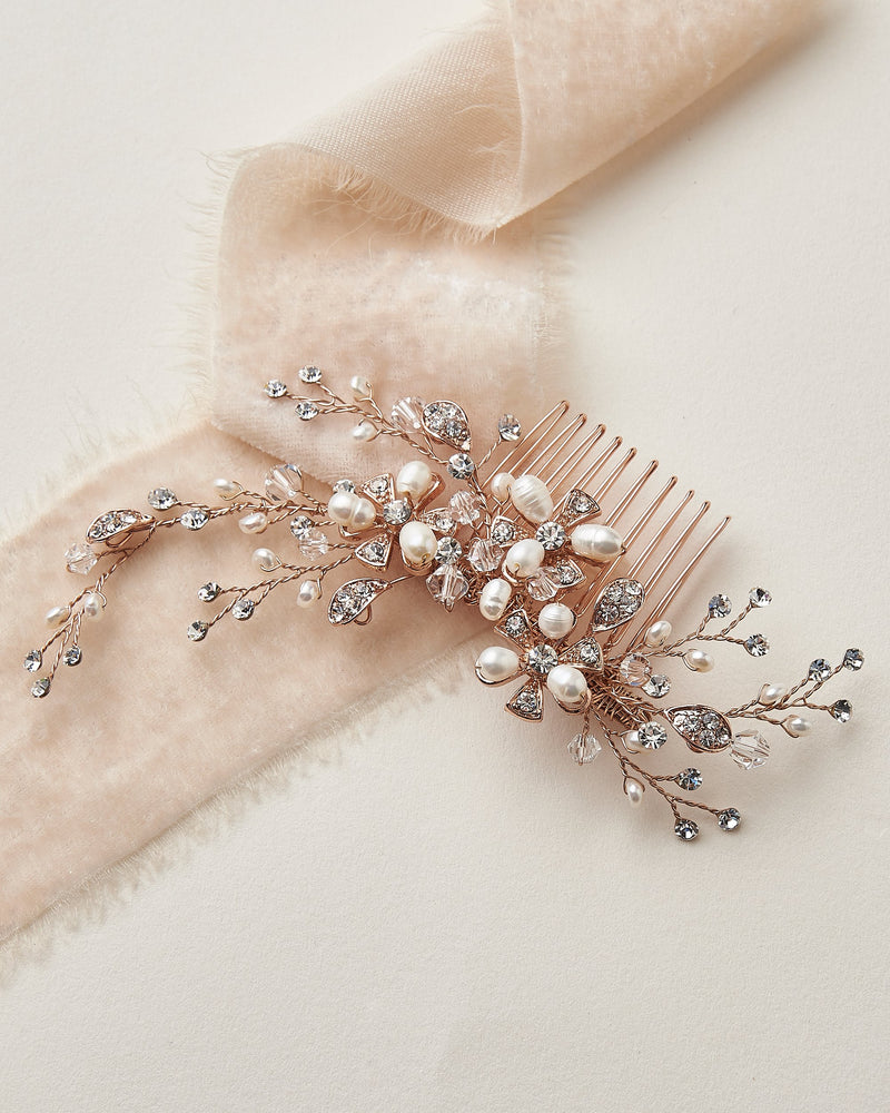 Rose Gold Wedding Comb