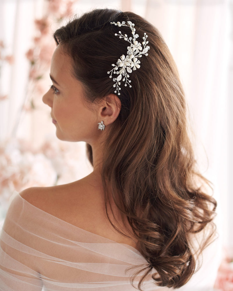 Wedding Hair Comb Pearls