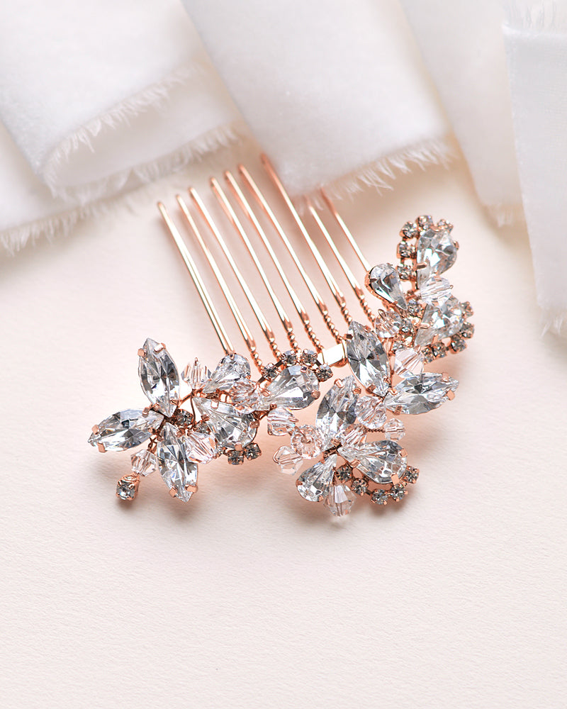 Rose Gold Bride Comb