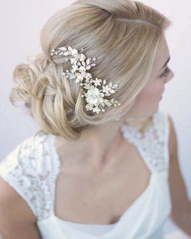 Blush Pink Flower Comb