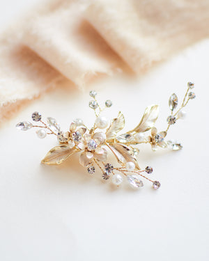 Gold Small Bridal Comb