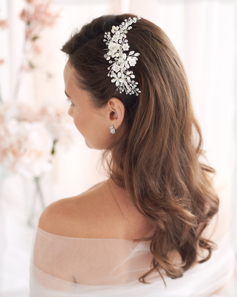 Wedding Floral Hair Comb