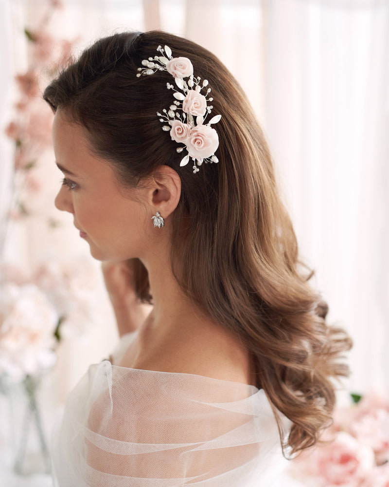 Pink Wedding Hair Comb