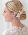 Blush Floral Bridal Hair Clip