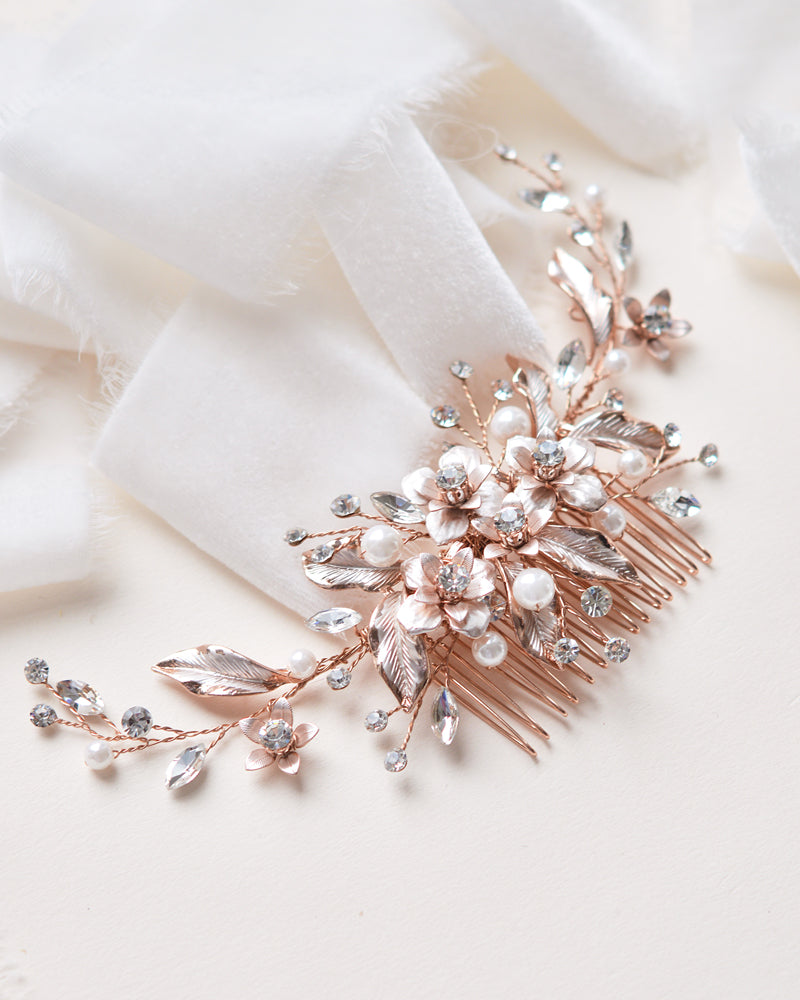 Rose Gold Wedding Headpiece