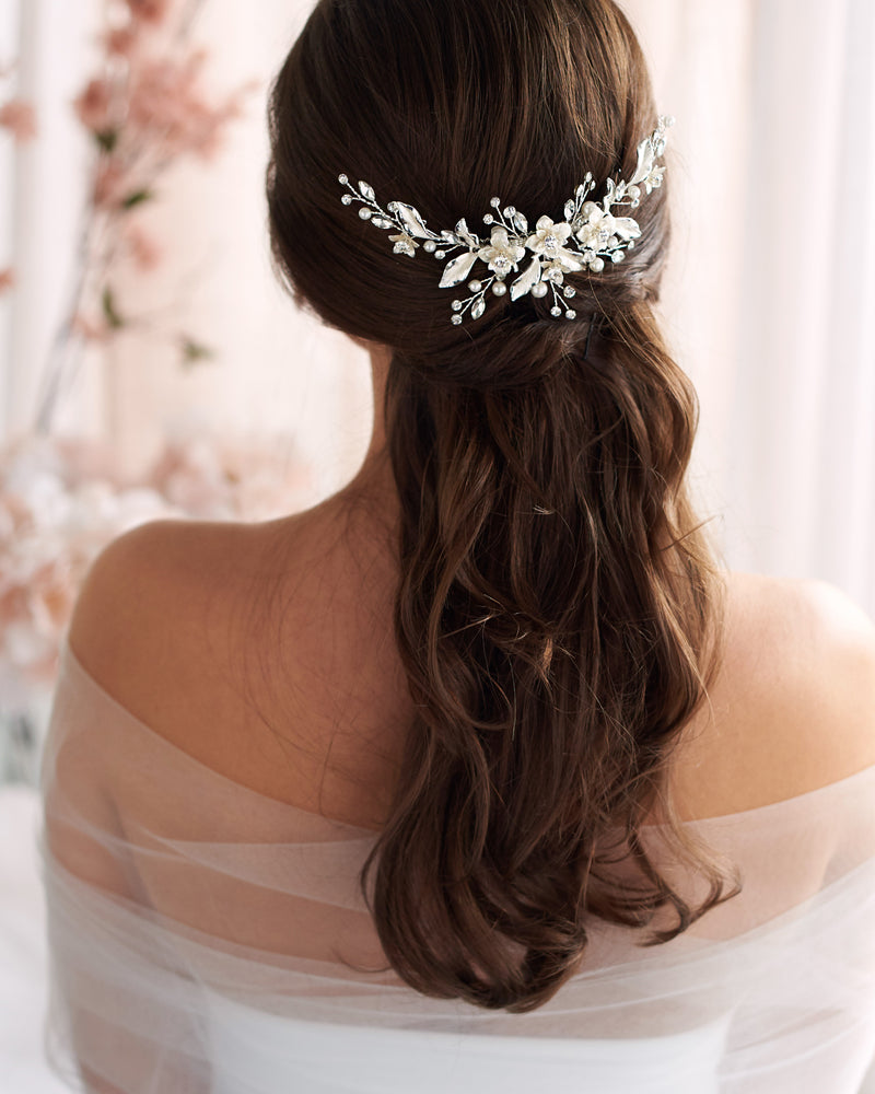 Wedding Hair Comb Floral