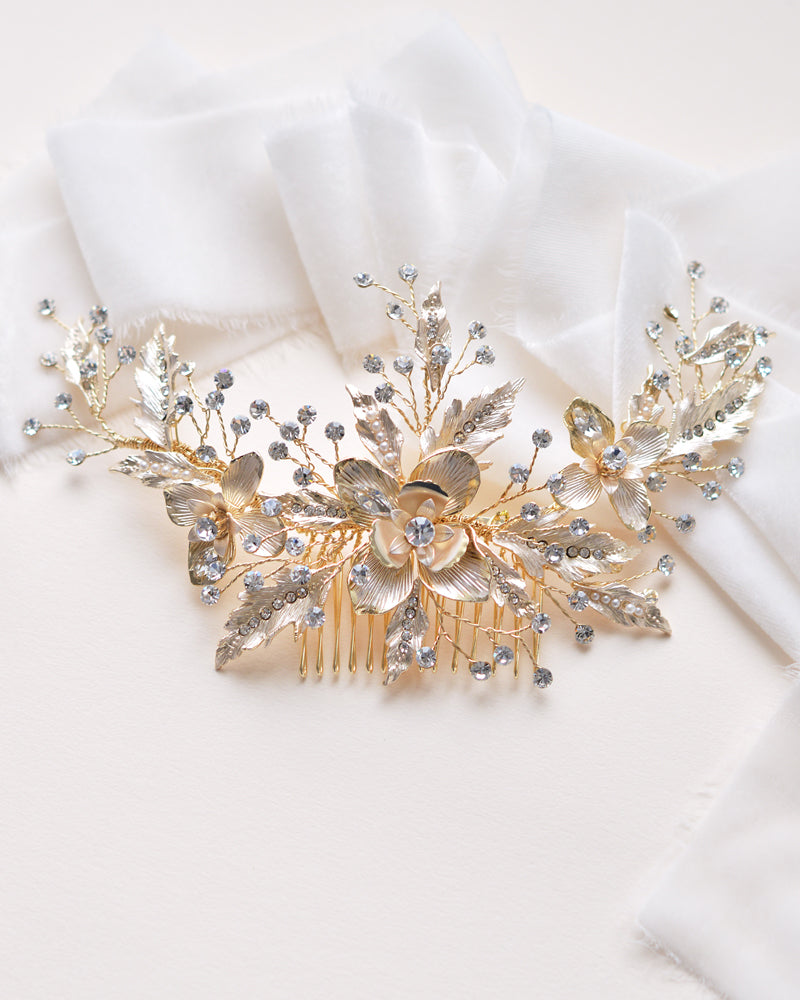 Gold Wedding Hair Accessory