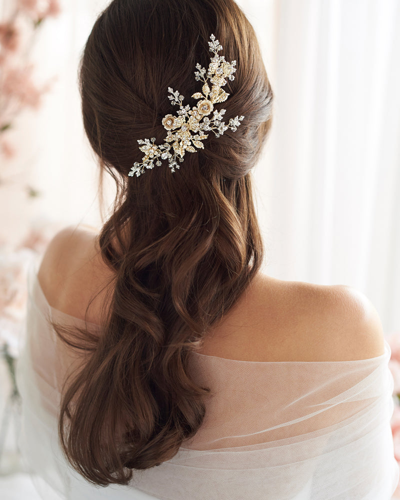 Gold and Silver Bridal Comb