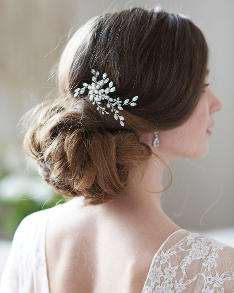 Pearl & Crystal Bridal Wedding Hair Comb