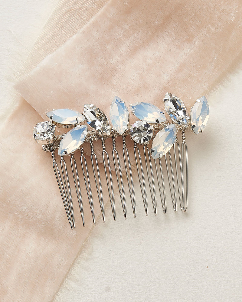 Opal Hair Comb for Bride