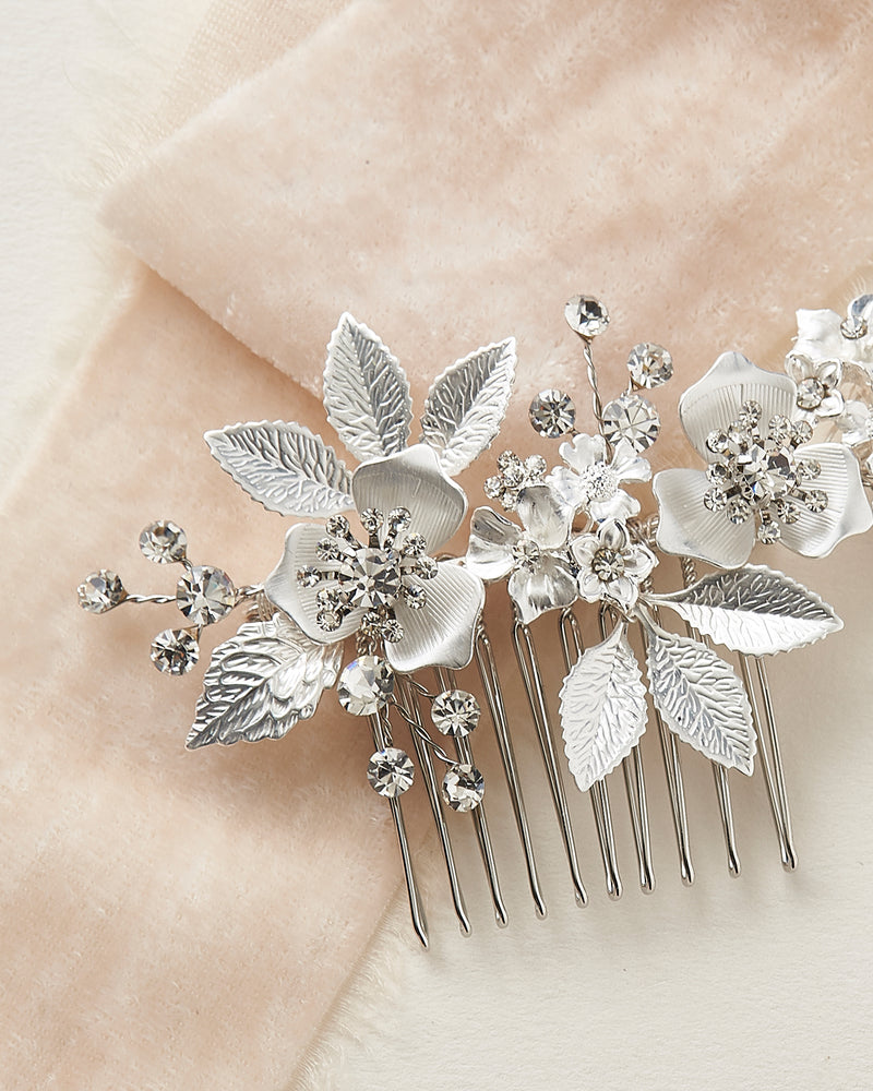 Silver Hair Comb for Wedding Day