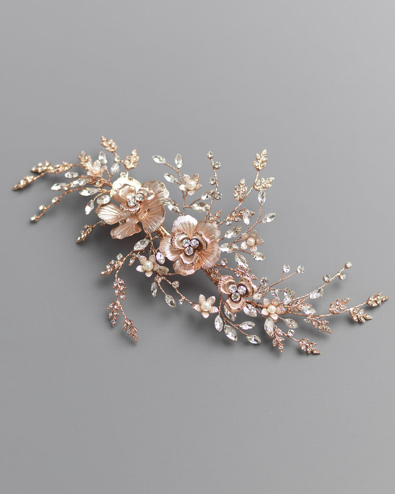 Rose Gold Wedding Headpeice