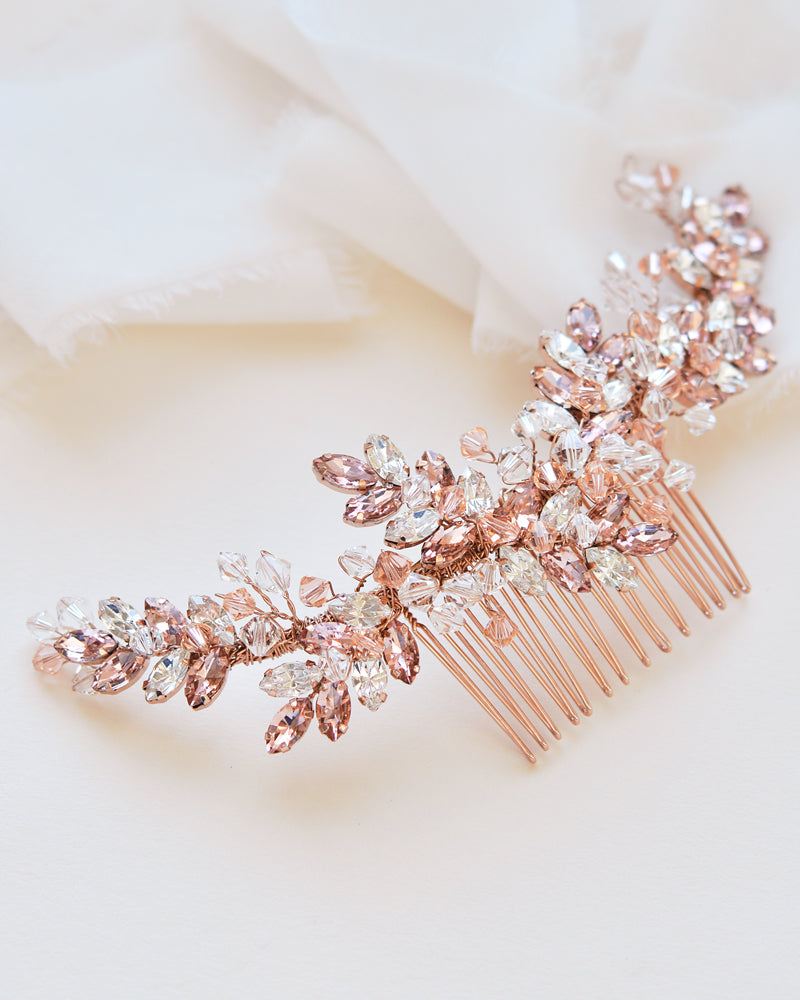 Rose Gold Bridal Hair Comb