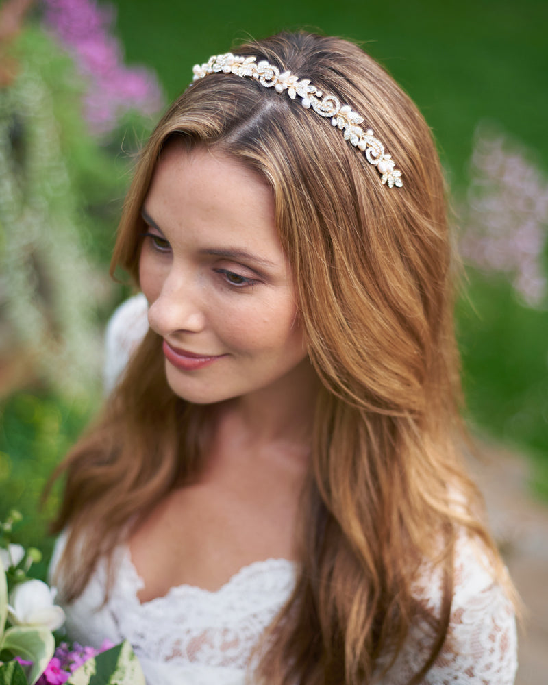 Bridal Headpiece Gold