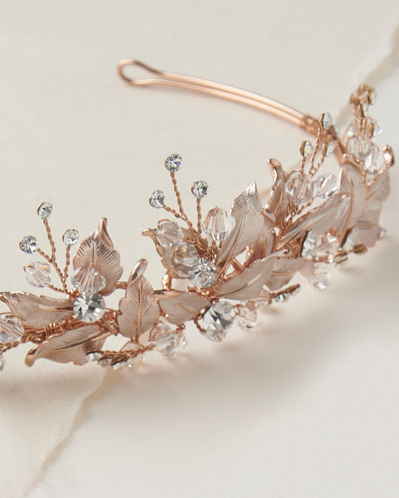 Rose Gold Bridal Tiara