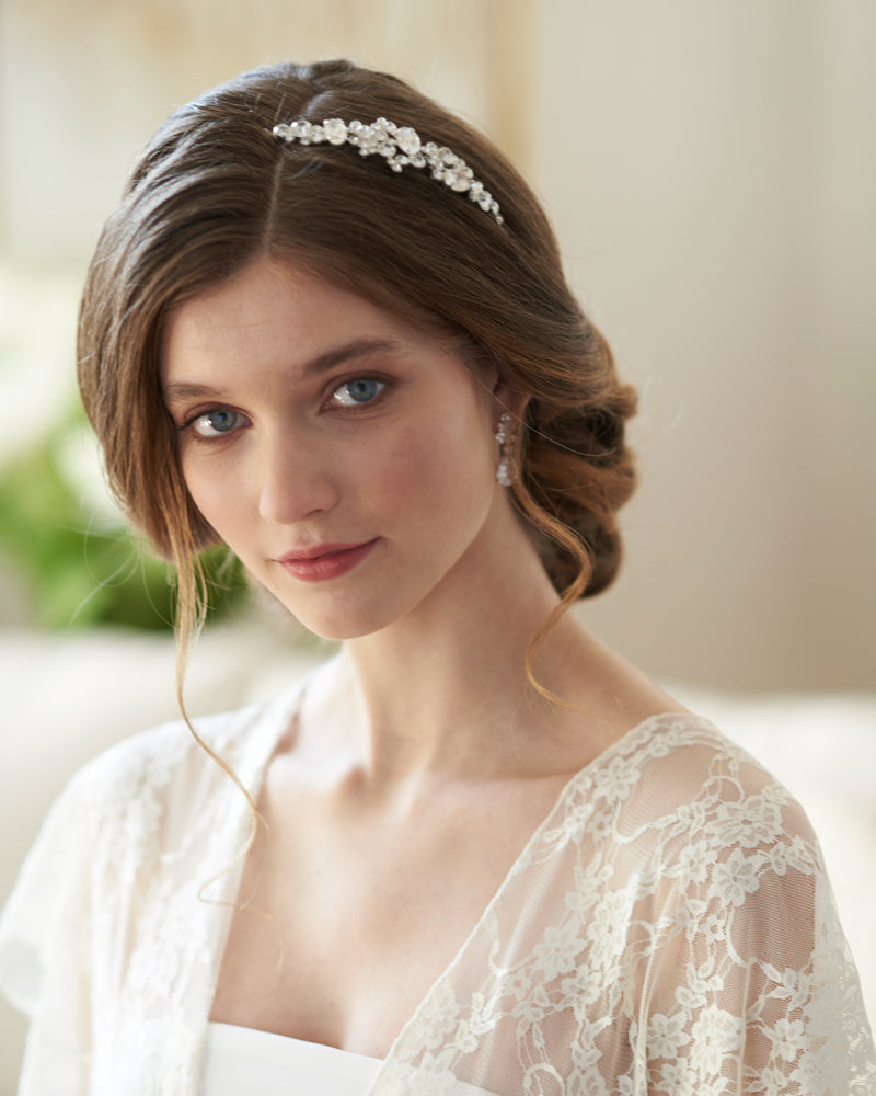 Silver Wedding Headpiece