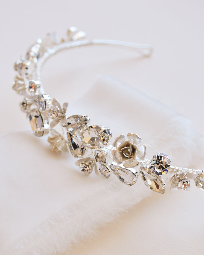 Silver Crystal Bridal Headband