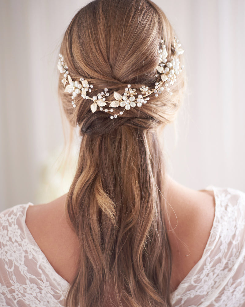 Wedding Hair Vine Gold