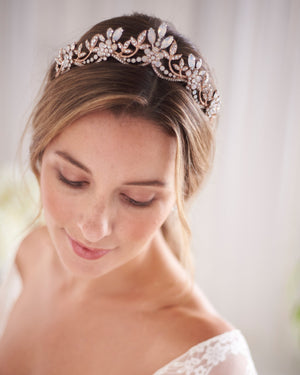 Wedding Crown Opal Rose Gold