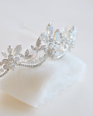 Wedding Tiara Opal Silver