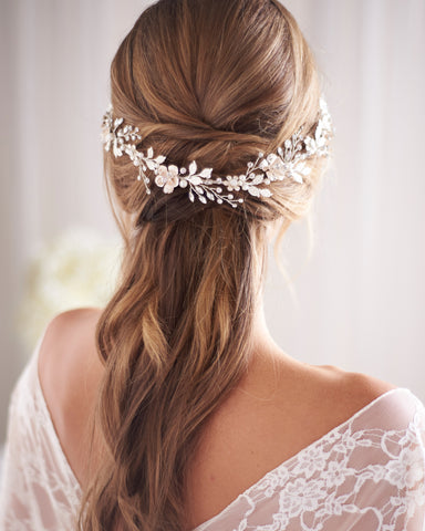 Ella Crystal & Pearl Hair Ribbon