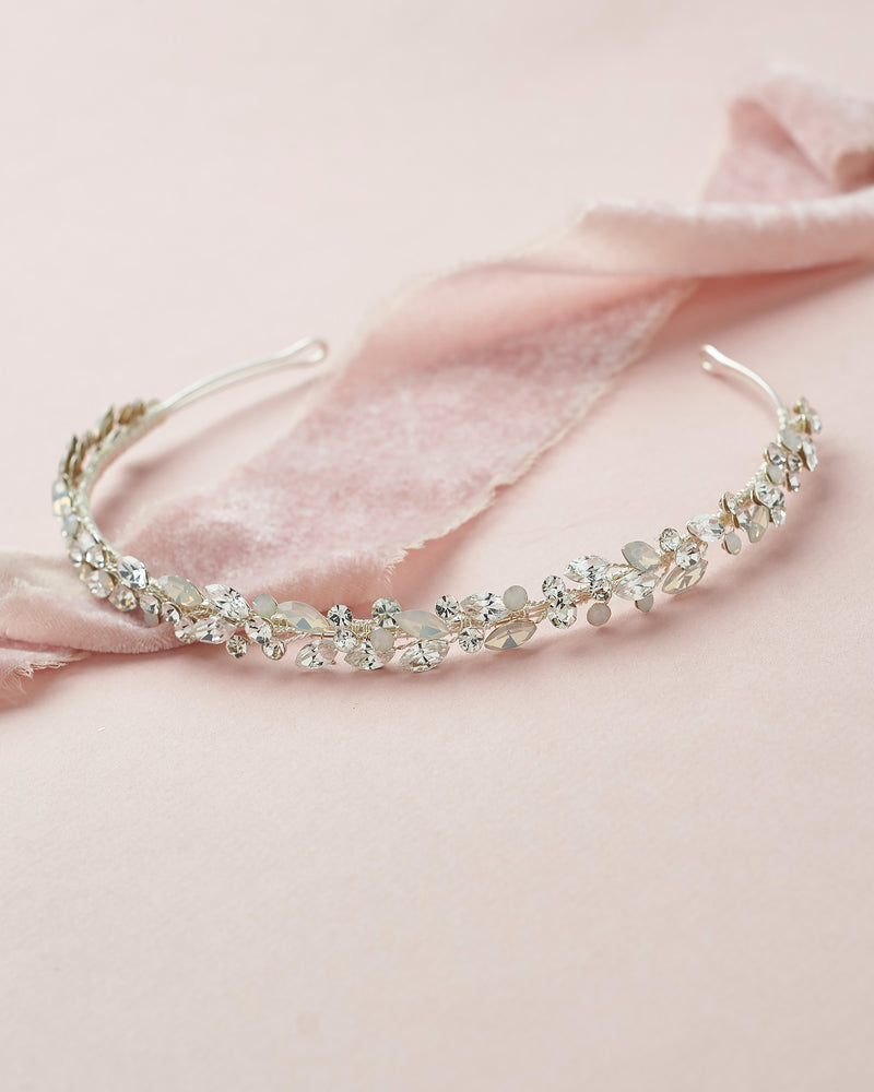 Opal and Crystal Headband