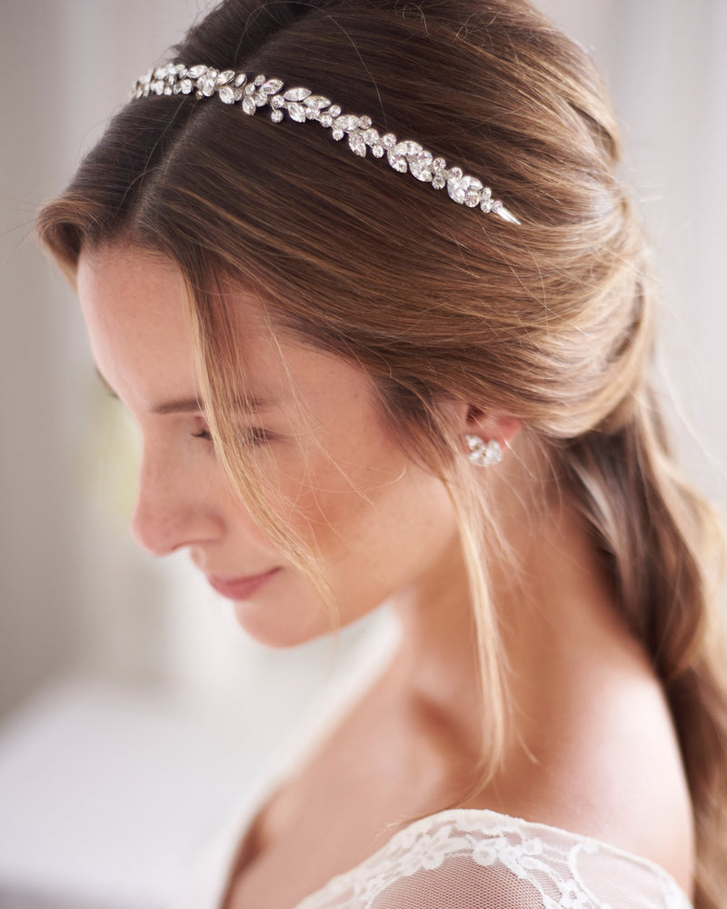 Bridal Headband with Crystals