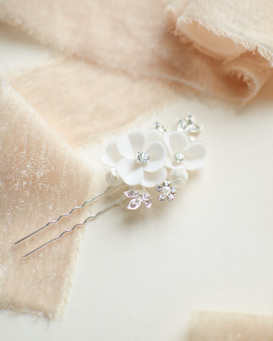 Palmer Petite Opal & Crystal Hair Pin