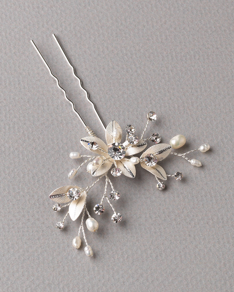Floral Freshwater Pearl Hair Pin
