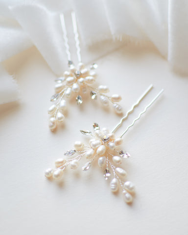 Abigail Freshwater Pearl Hair Pins (Set of 3)