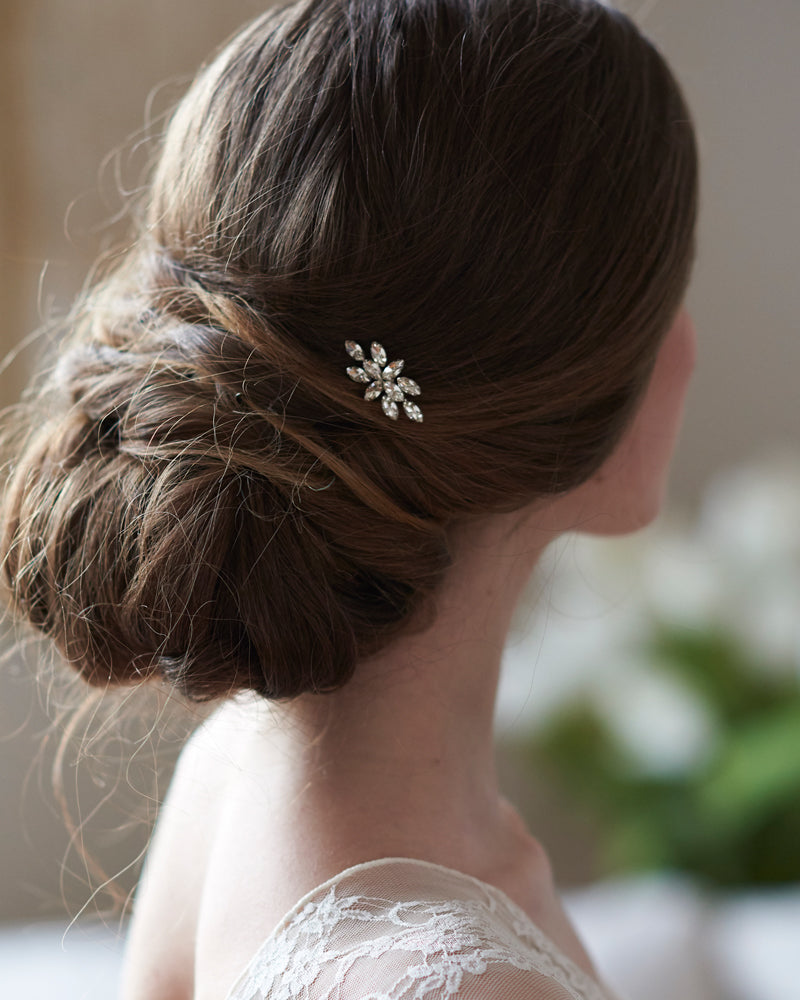 Crystal Petite Wedding Hair Pin Accessory