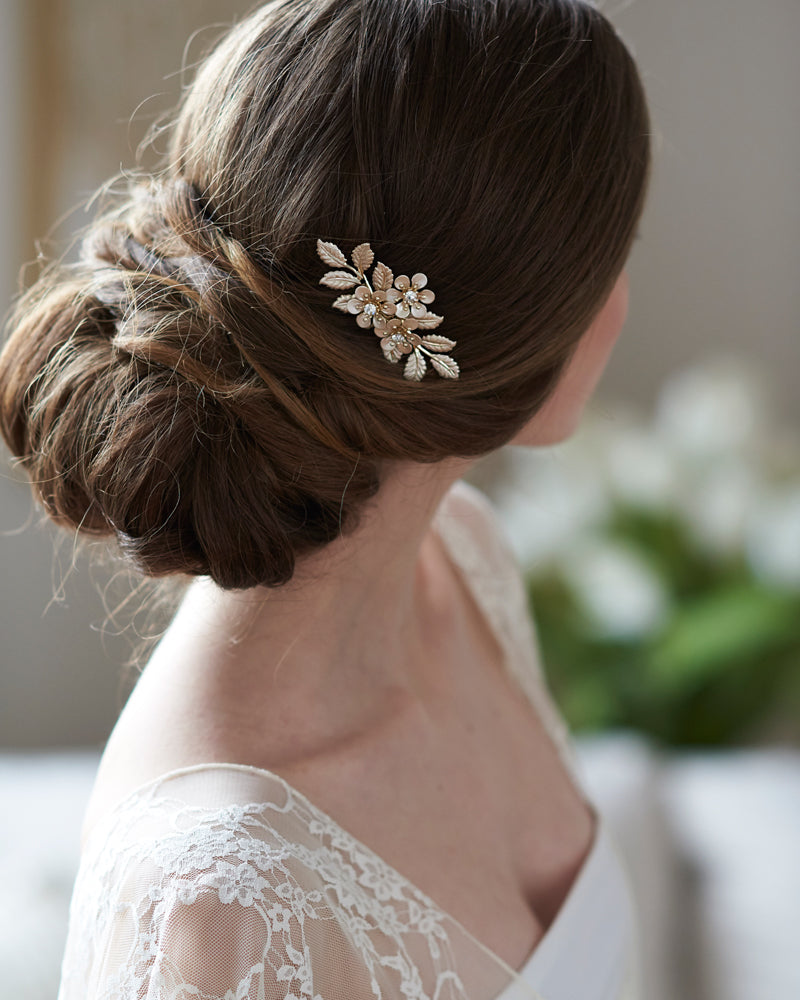 Floral Silver Wedding Hair Pin