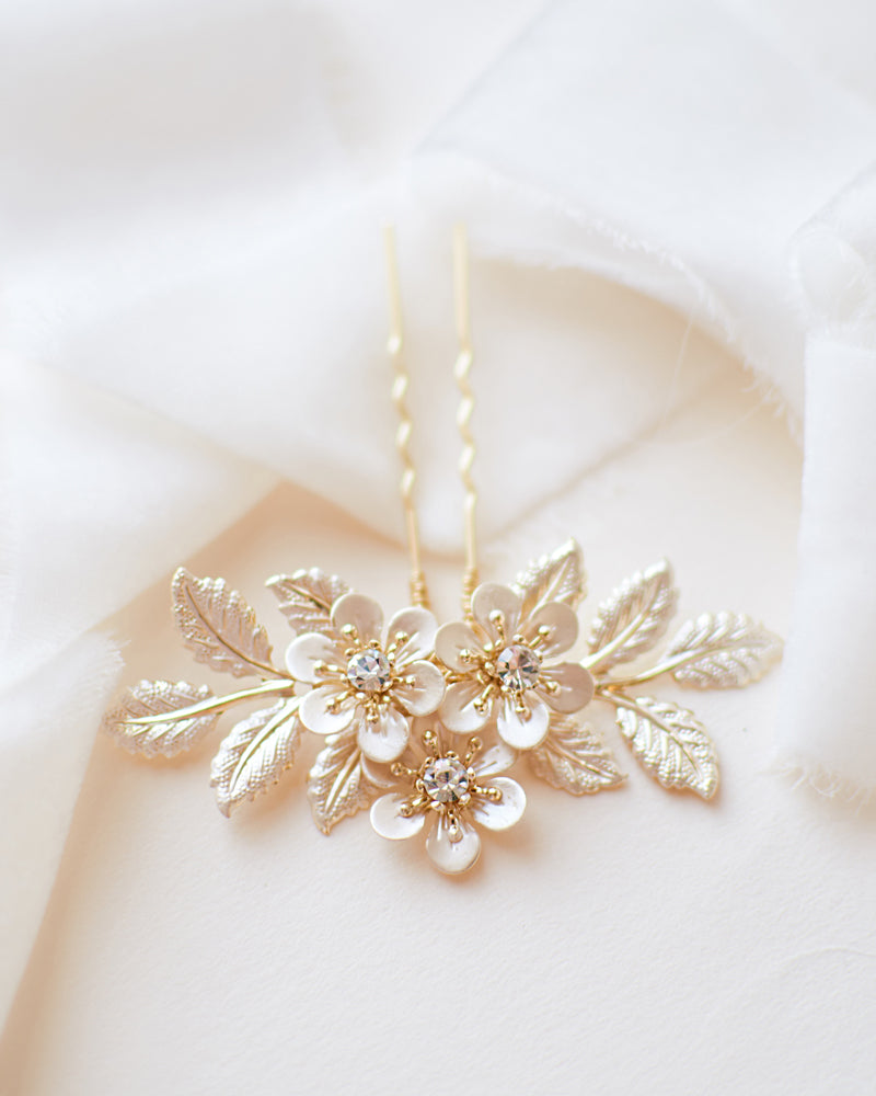 Floral Wedding Hair Pin