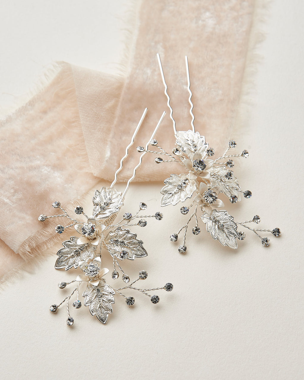 Wedding Hair Pins Floral Leaf