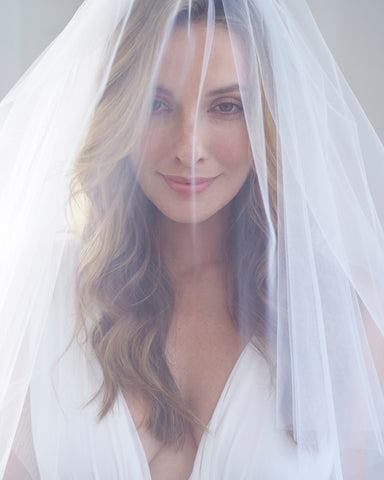 Anniston Beaded Edge Veil