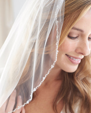 Wedding Veil with Beading