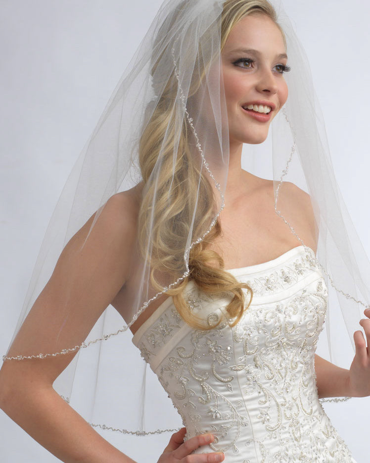 Bridal Veil with Beading