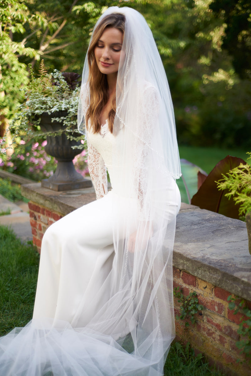 Cathedral Wedding Veil with Blusher