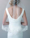 Mariah Pearl Beaded Edge Veil with Blusher