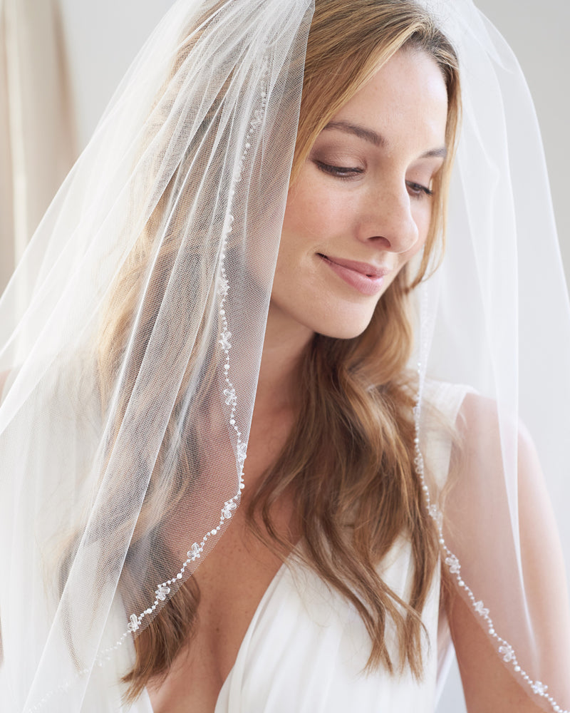 Wedding Veil Beaded