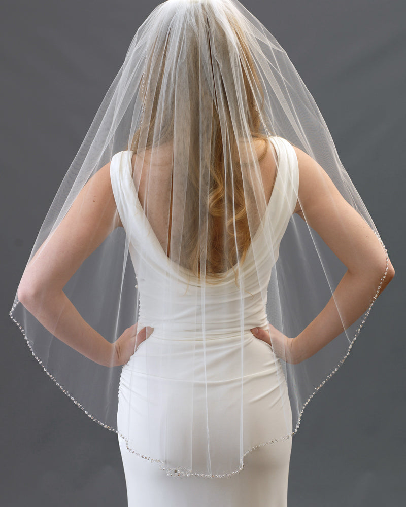Crystal Wedding Veil