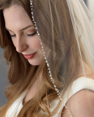 Paulina Embroidered & Beaded Veil