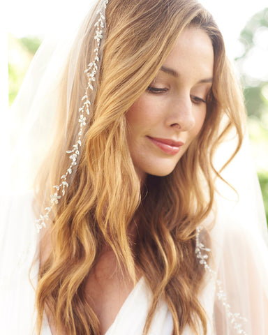 Emma Pearl & Crystal Beaded Cathedral Veil