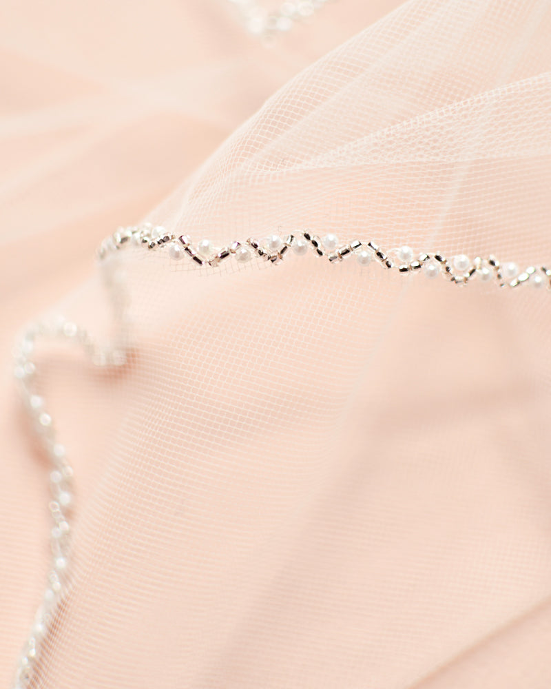 Pearl Edge Bridal Veil