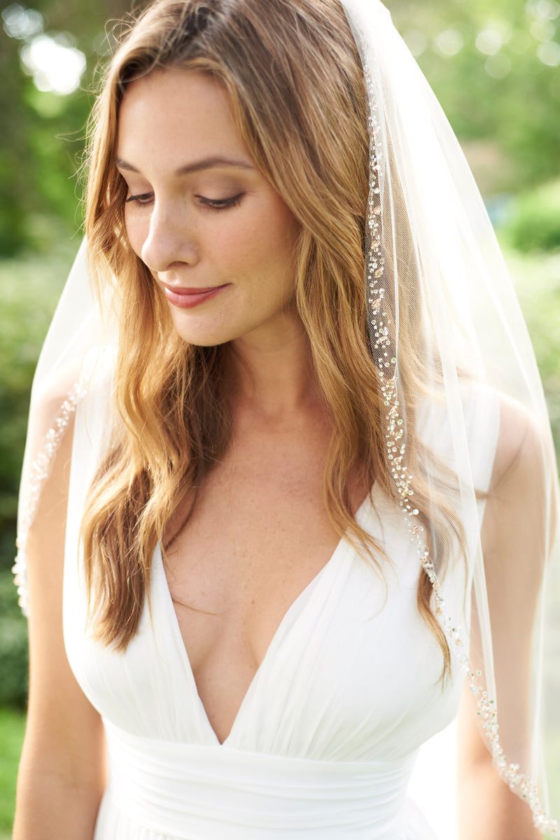 Rose Gold Wedding Veil