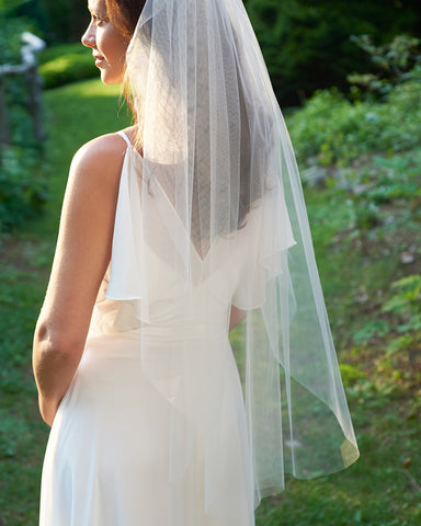 All Pearl Beaded Edge Wedding Veil