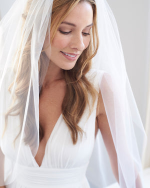 No Edge Wedding Veil