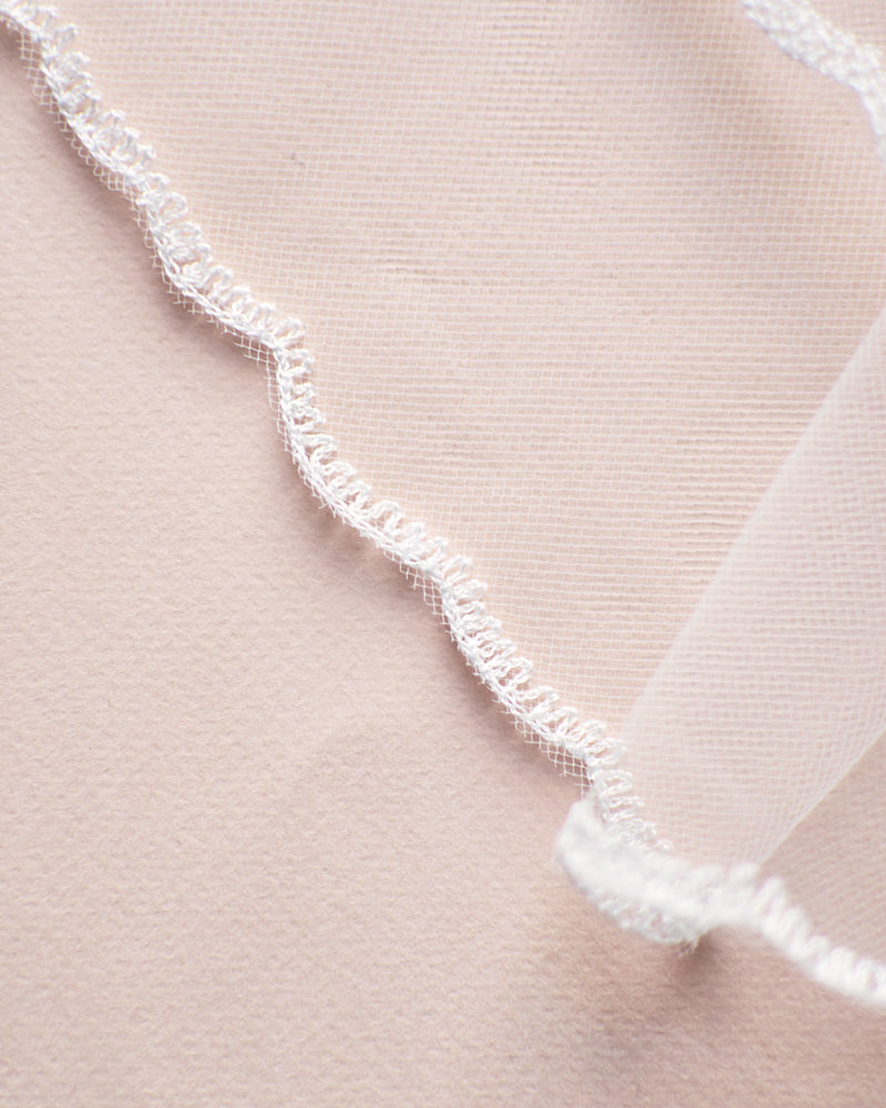 Simple Lace Edge Wedding Bridal Veil