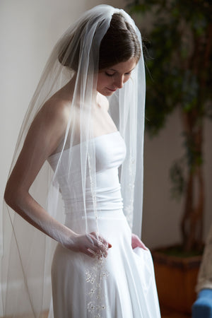 Ivory Cathedral Wedding Veil