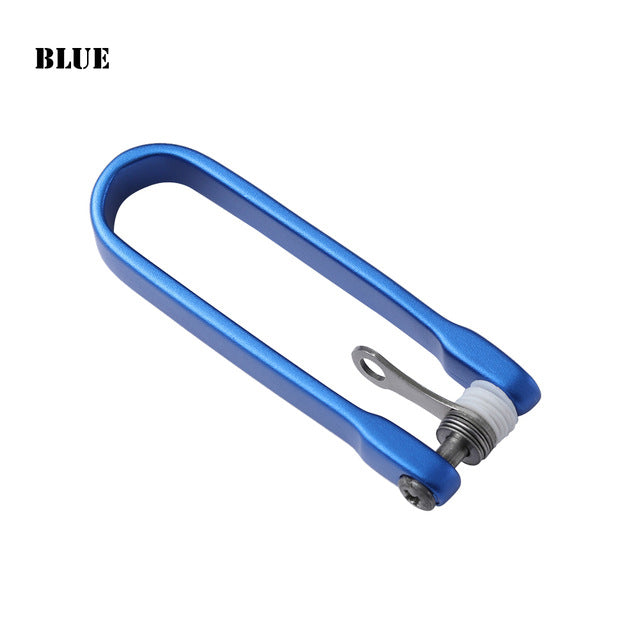 1PC Unisex Portable Mini Tool U Style Key Clip Keychain Smart Sticks Hard Oxide Aluminum Folder Pocket Key Holder Clip Organizer